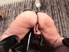 Huge Butt Mature Dildo Fucked From Behind