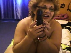 Large Granny Being A Tease