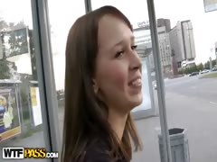 Real public fuck movie with sexy coed babe