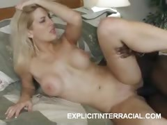 Sexy Blonde Interracial Banging