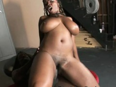 Huge Booty Black Girl With A Massive Rack Riding Dick