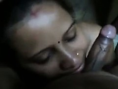 Indian Aunty Giving A Blowjob