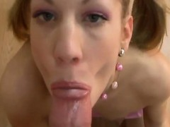 POV oral job and facial
