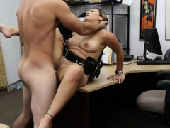 Busty security officer fucked with pawn man at the pawnshop